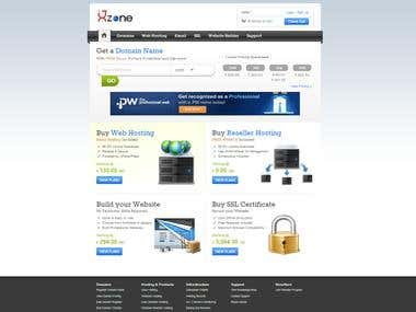 Web hosting Website.