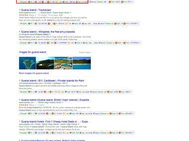 Keyword On first page of google.com