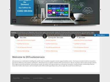Customer care Website