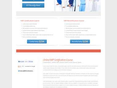 Website Design - NRP Certification -