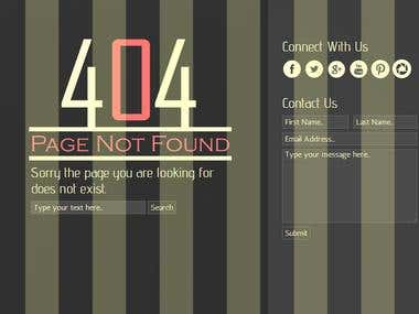 404- Page not found template