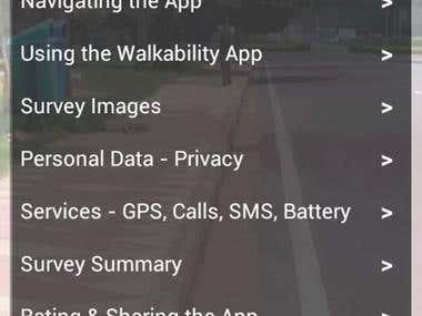 CAI Asia - Walkability App for Android