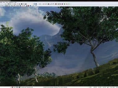 3d landscape game environment