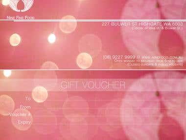 Gift Voucher for Nine food AUS