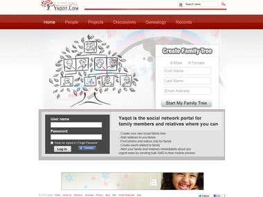 Social Networking , Family Tree , Blogging  in php