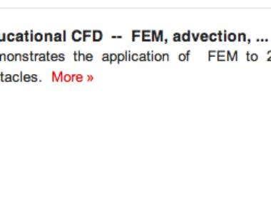 CFD  --  FEM, BEM, FV, SIMPLE ...