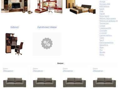 Web-design for online shop (selling of furniture)