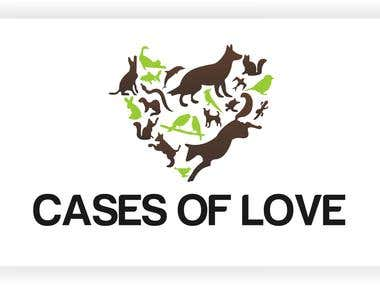 Logo design for cases of love