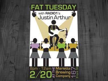 Justin Arthur & Radio 1 Band Posters