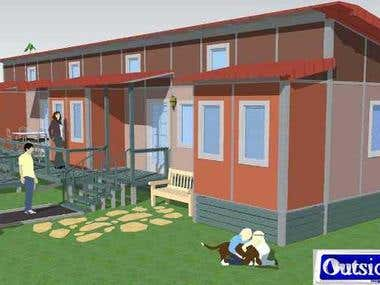 Prefabricated house for disabled - with AIDA conformity -