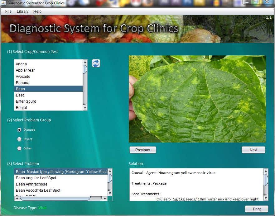 Diagnostic System for Crop Clinics