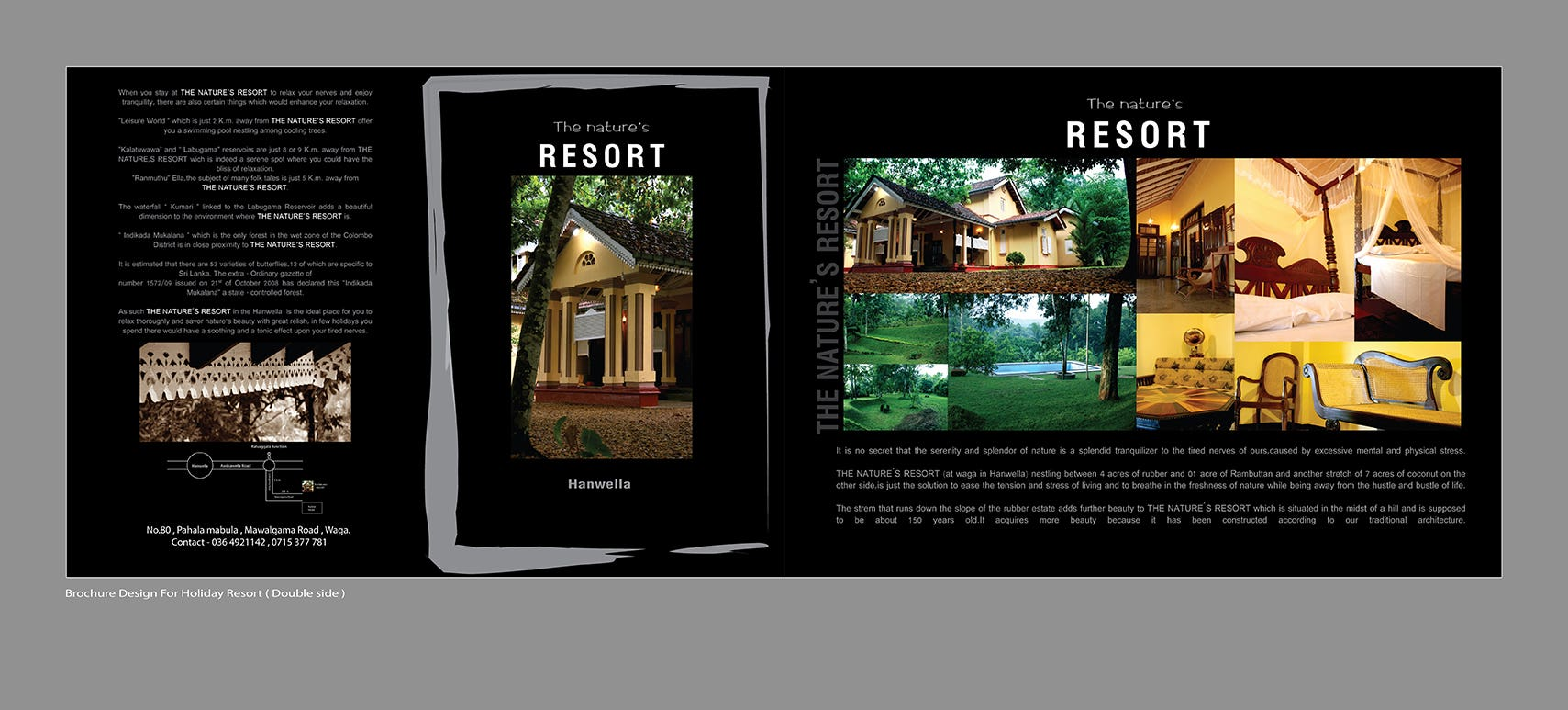 brochure design for holiday bungalows