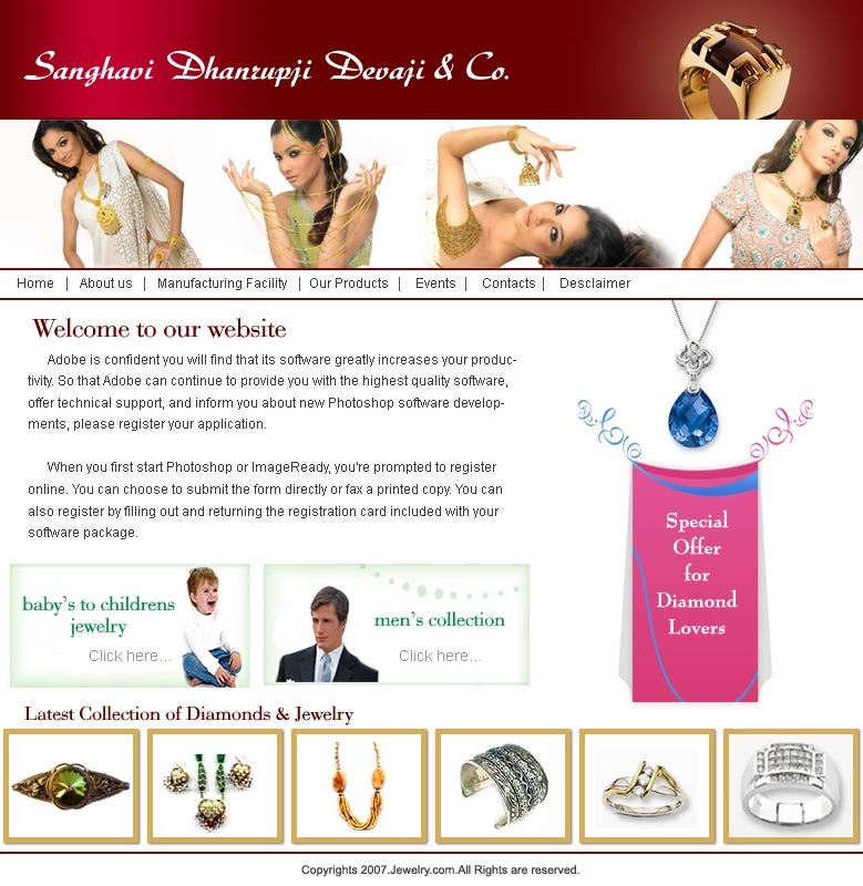 Jewelry design company