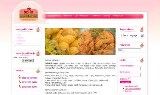 Bolia Cake (web design)