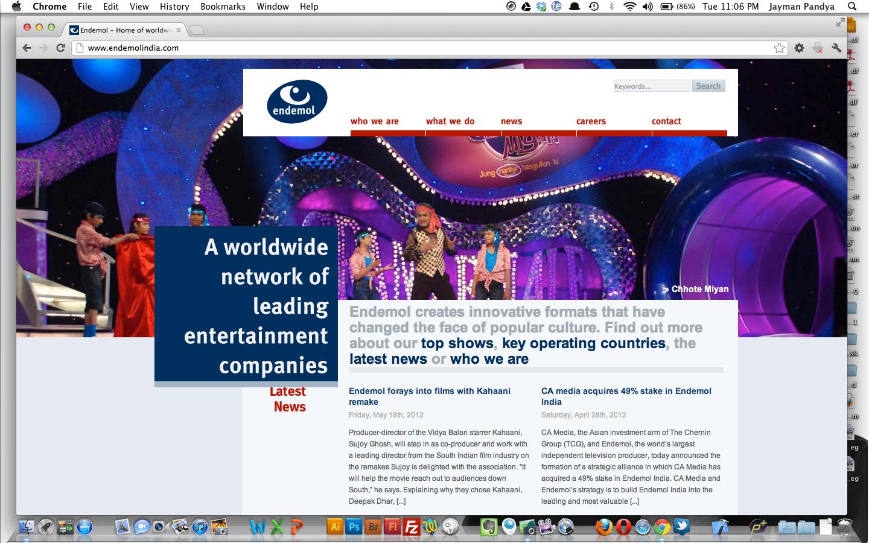 Endemol India Official Website