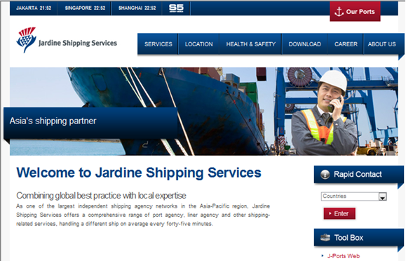 Corporate CMS website for a logistic company.