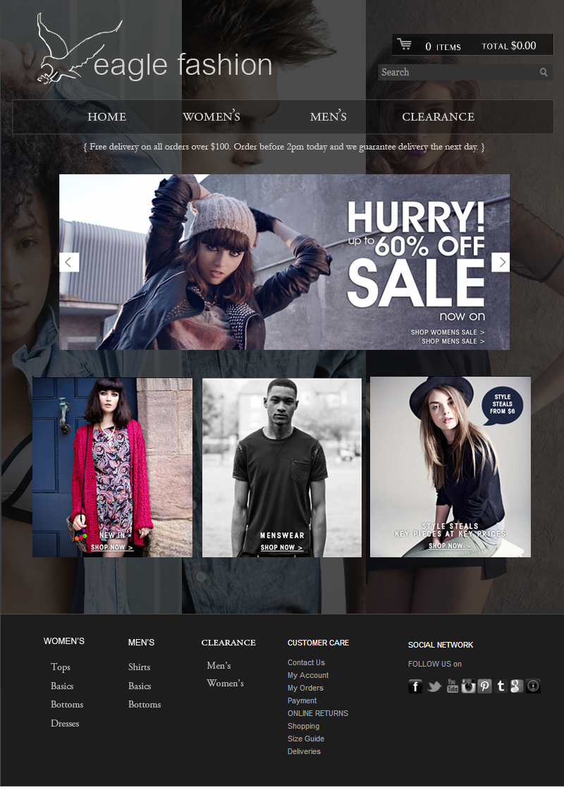 Ecomm Shopify website