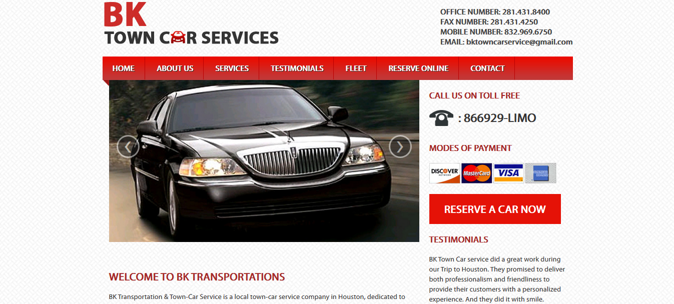 bk town car services