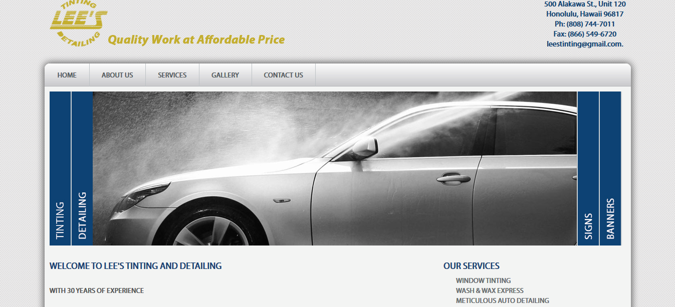 lees timting and detailing website