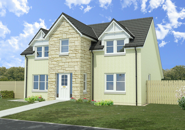 Architectural rendering - 4 bedroom property - scotland