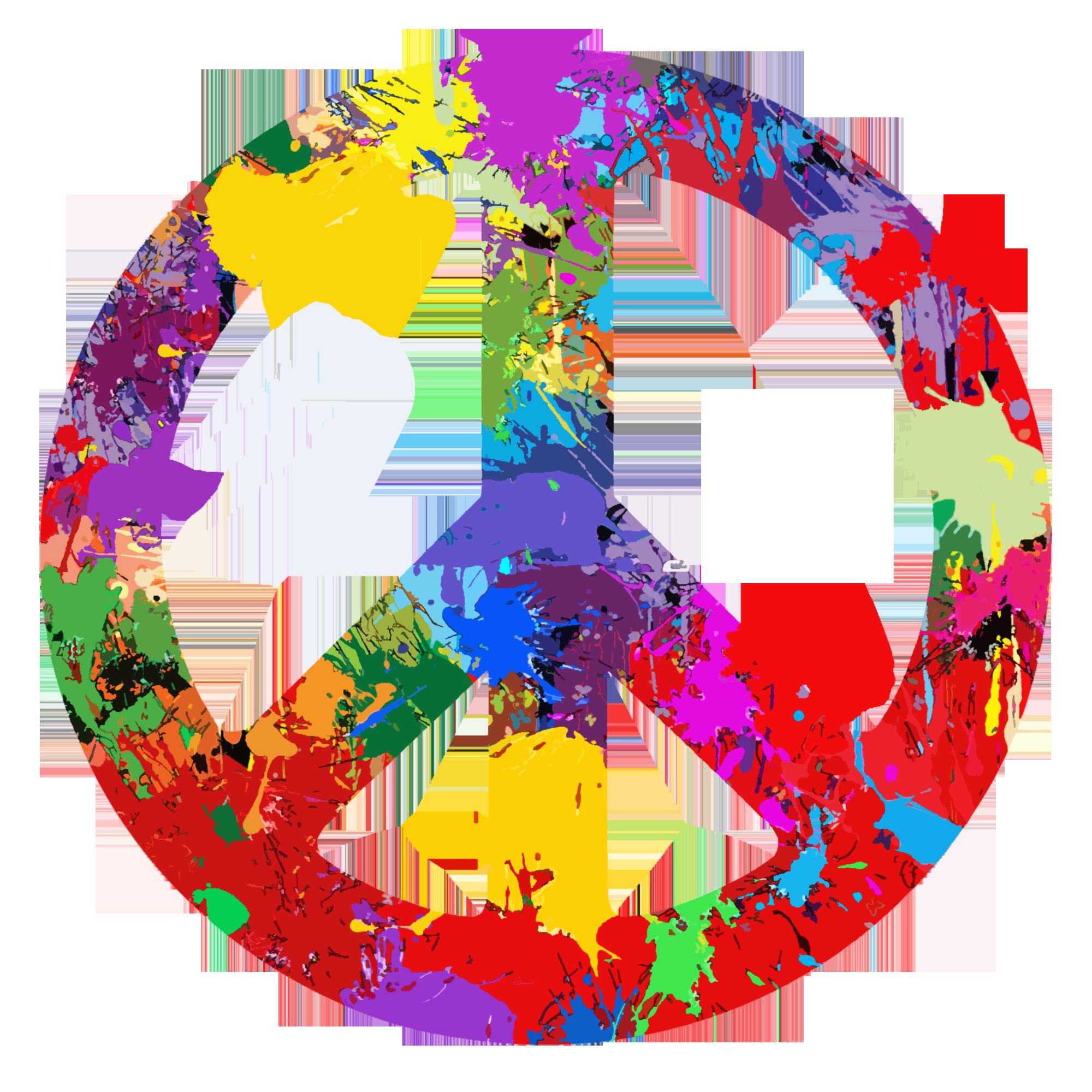 Paint splat peace symbol.