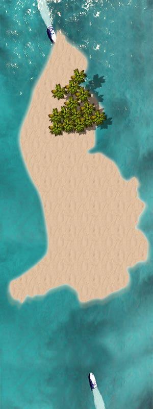 Photocomposite fake island image