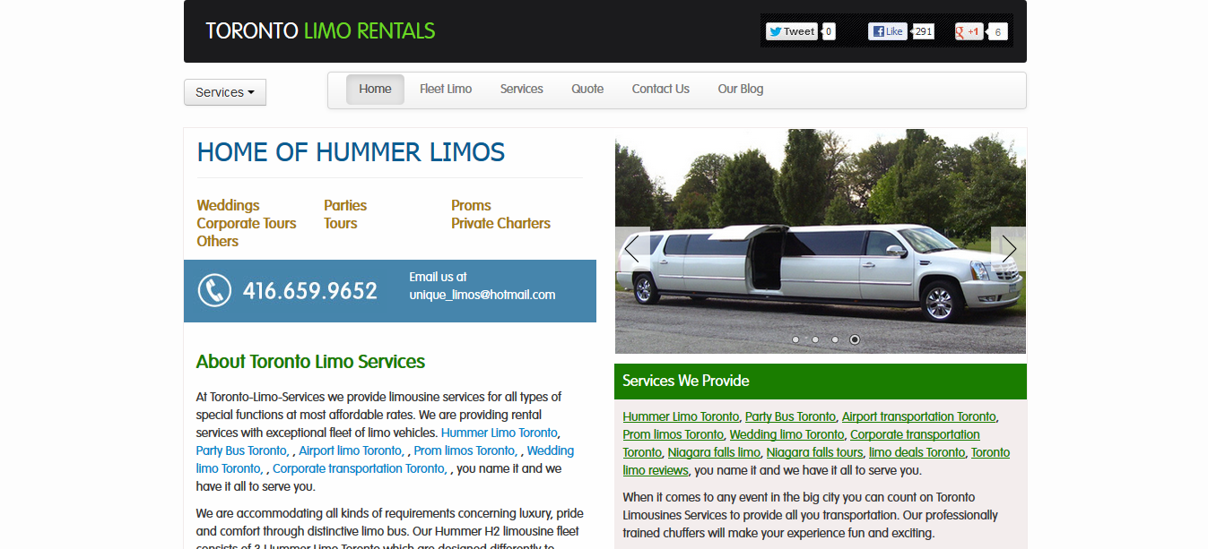 toronto limo rentals