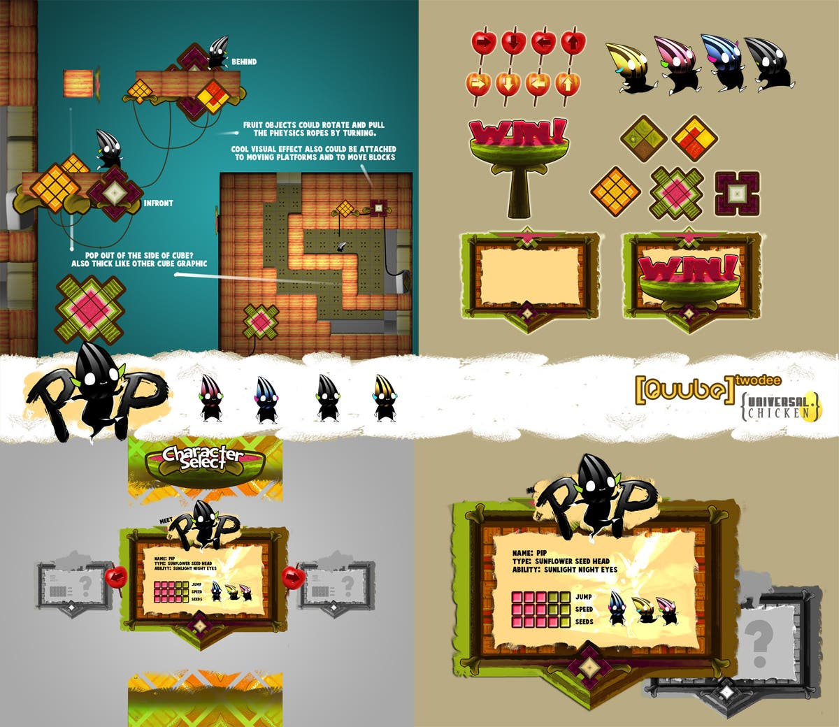 QuubeTwoDee Indie game assets sheet