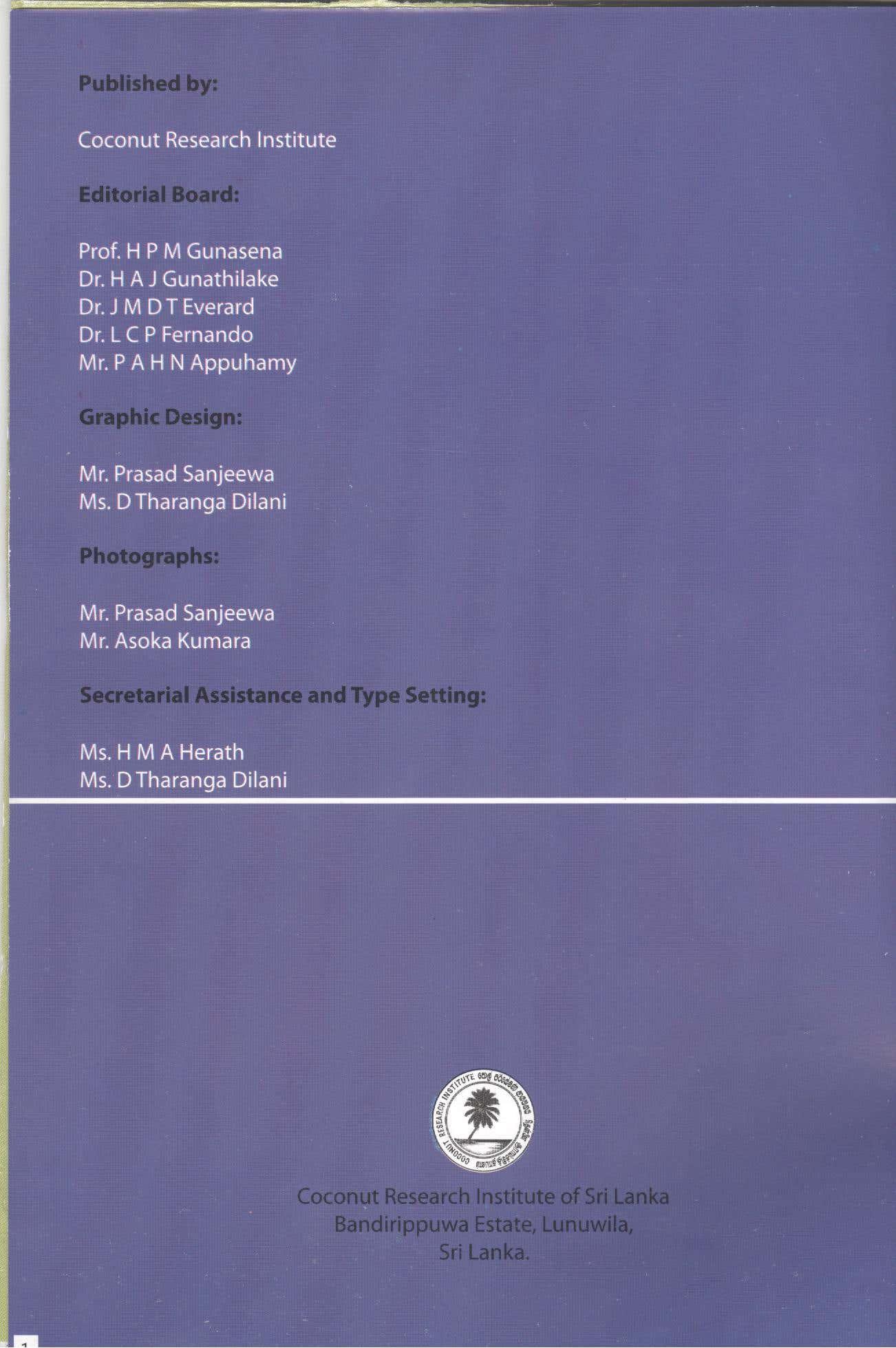 Guide Book of the Institute