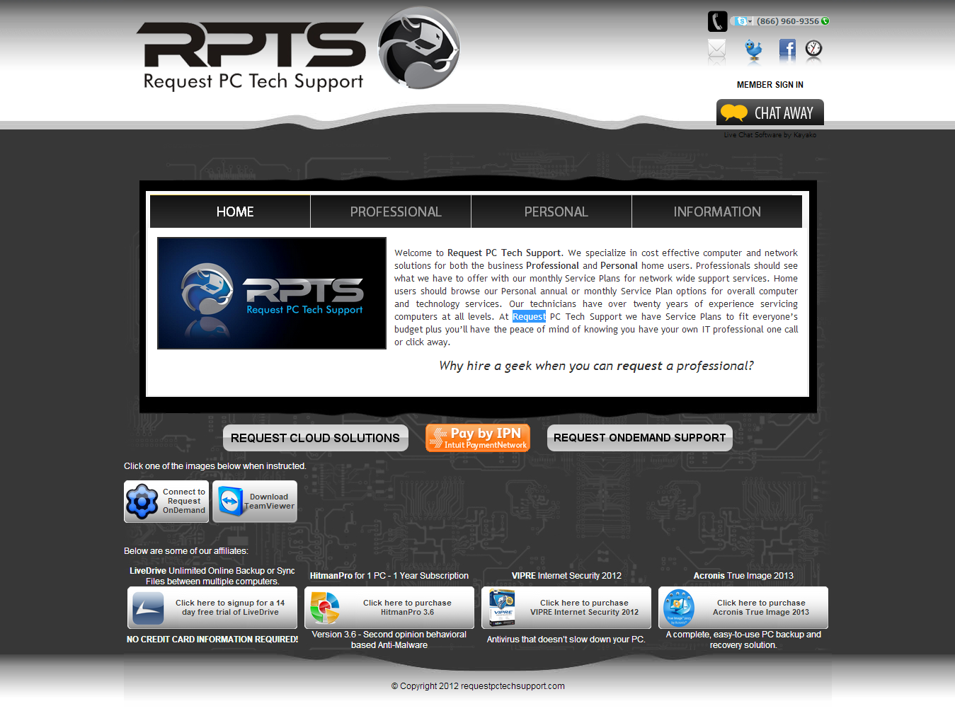 PC Tech support Website