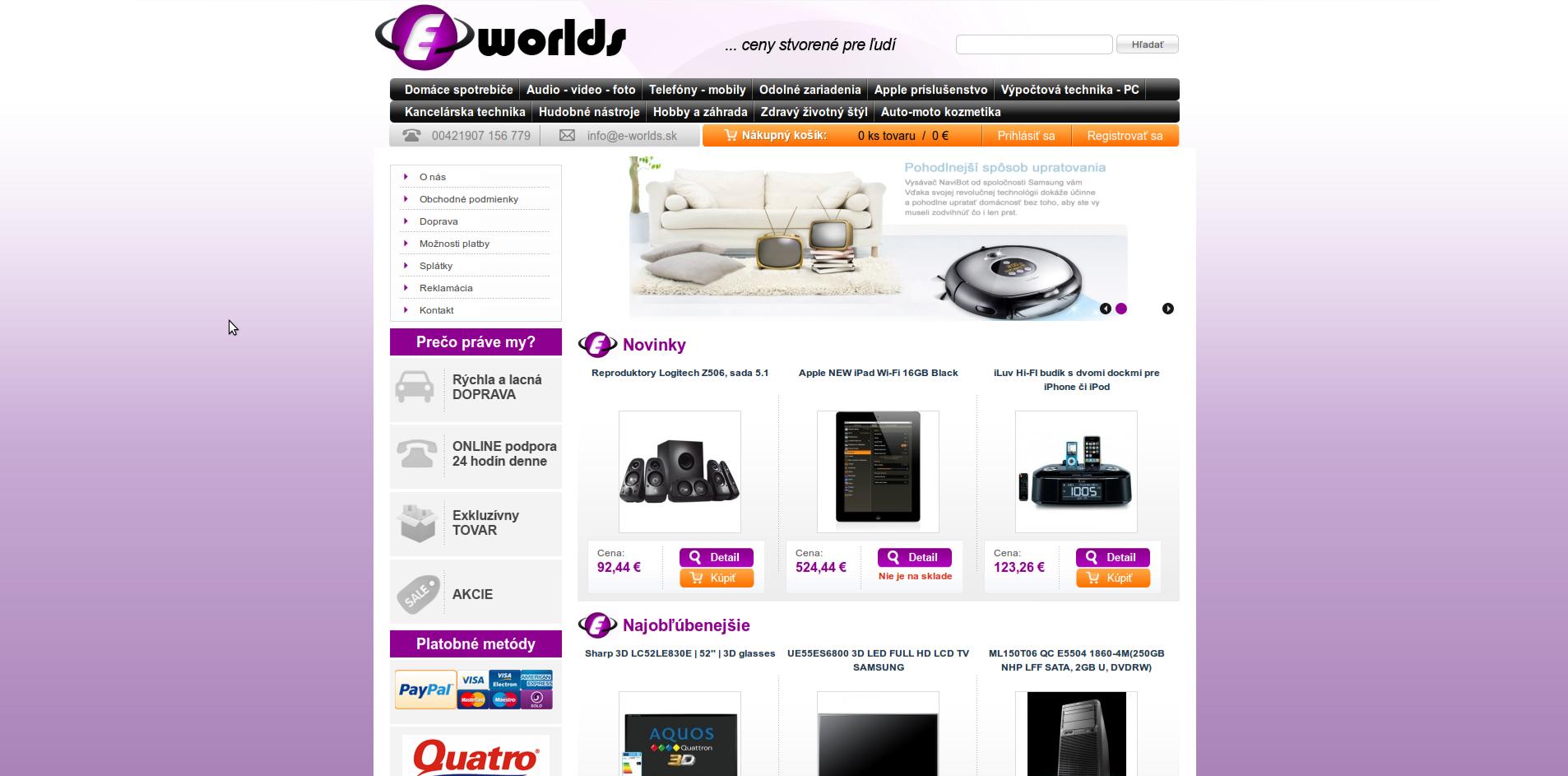Electronics eCommerce based on magento