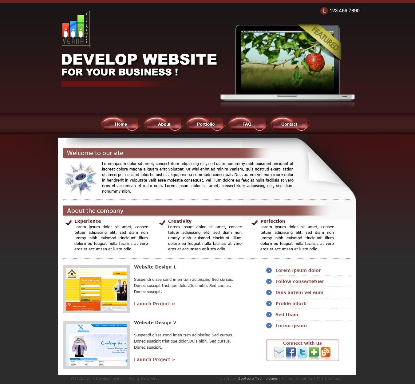 Web Devlopment Company Template