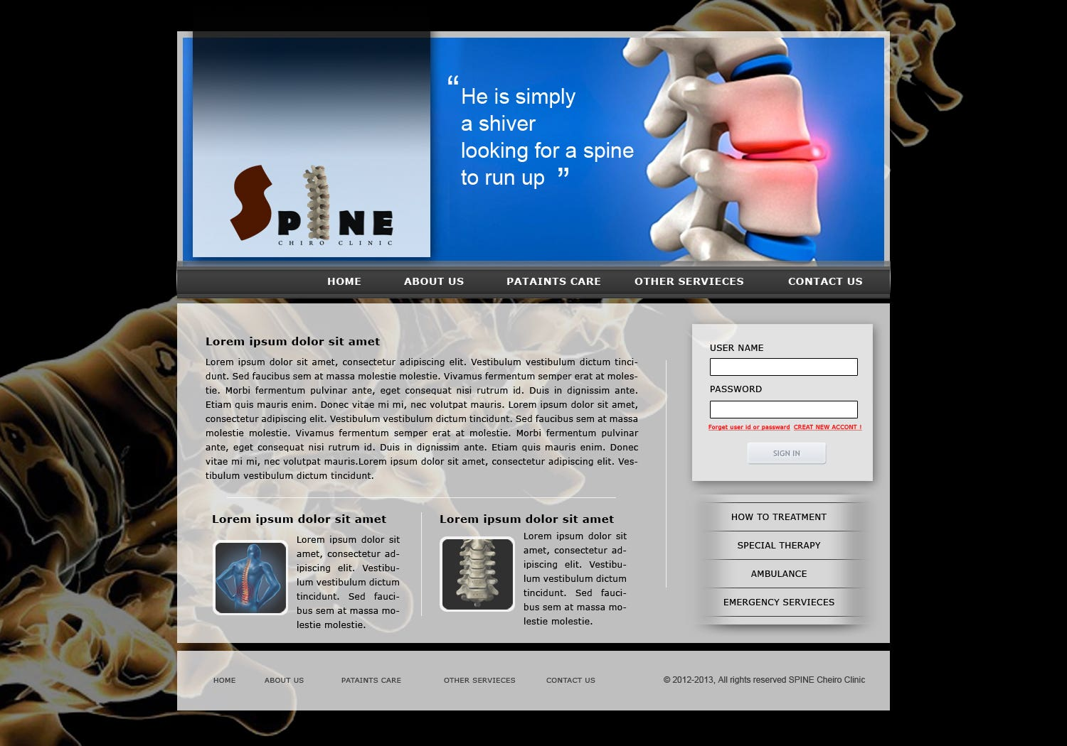 Medical Sites Template