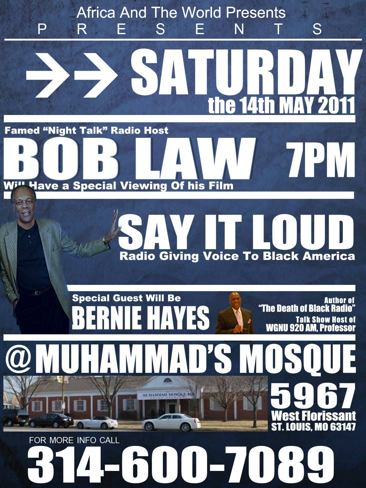 Bob Law Flyer Design