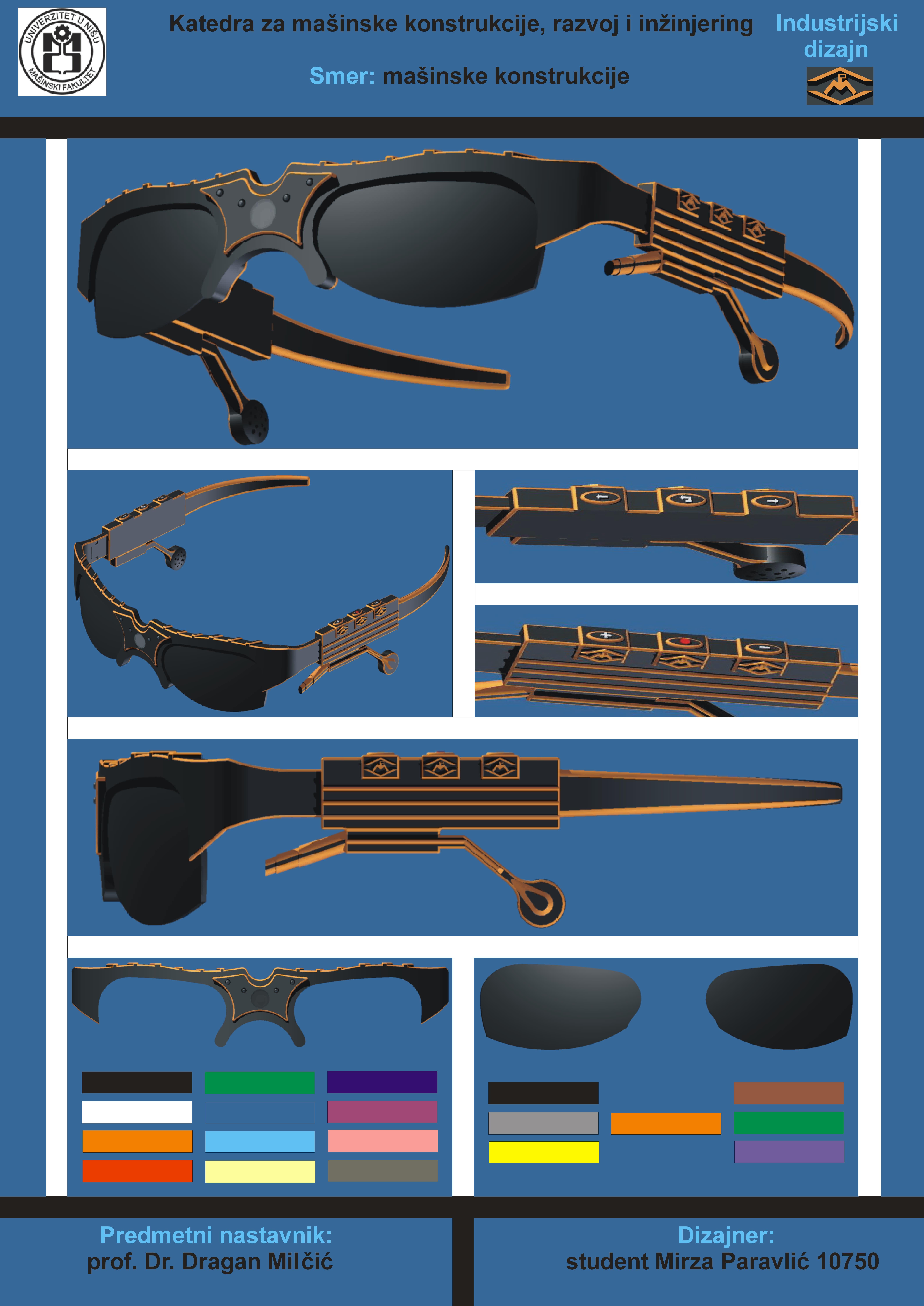 Design of sunglasses