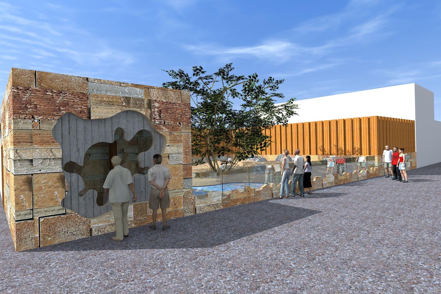 Turtles enclosure in Yerevan