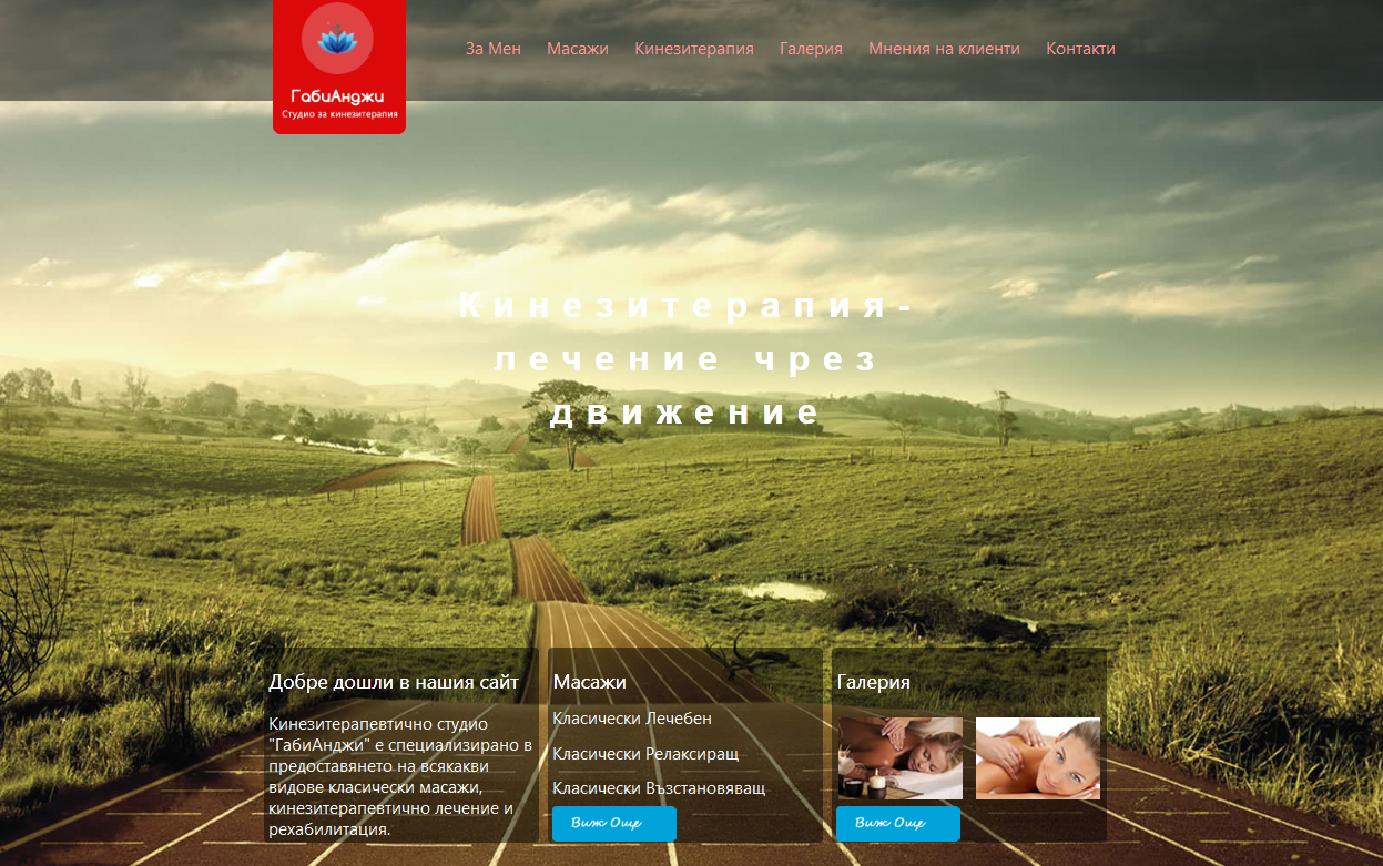 Massage and physiotherapy website
