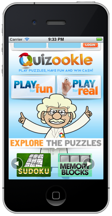 iPhone/Android Quizookle Apps