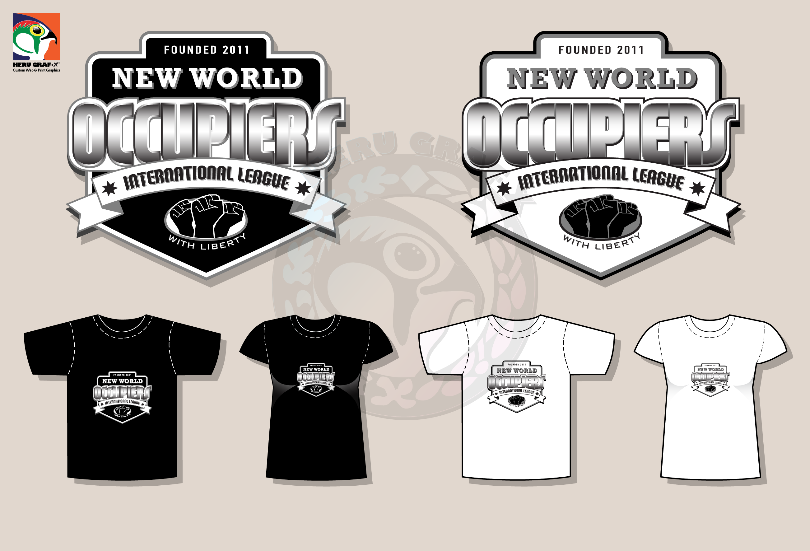 Sample T-Shirt Designs and Mockup