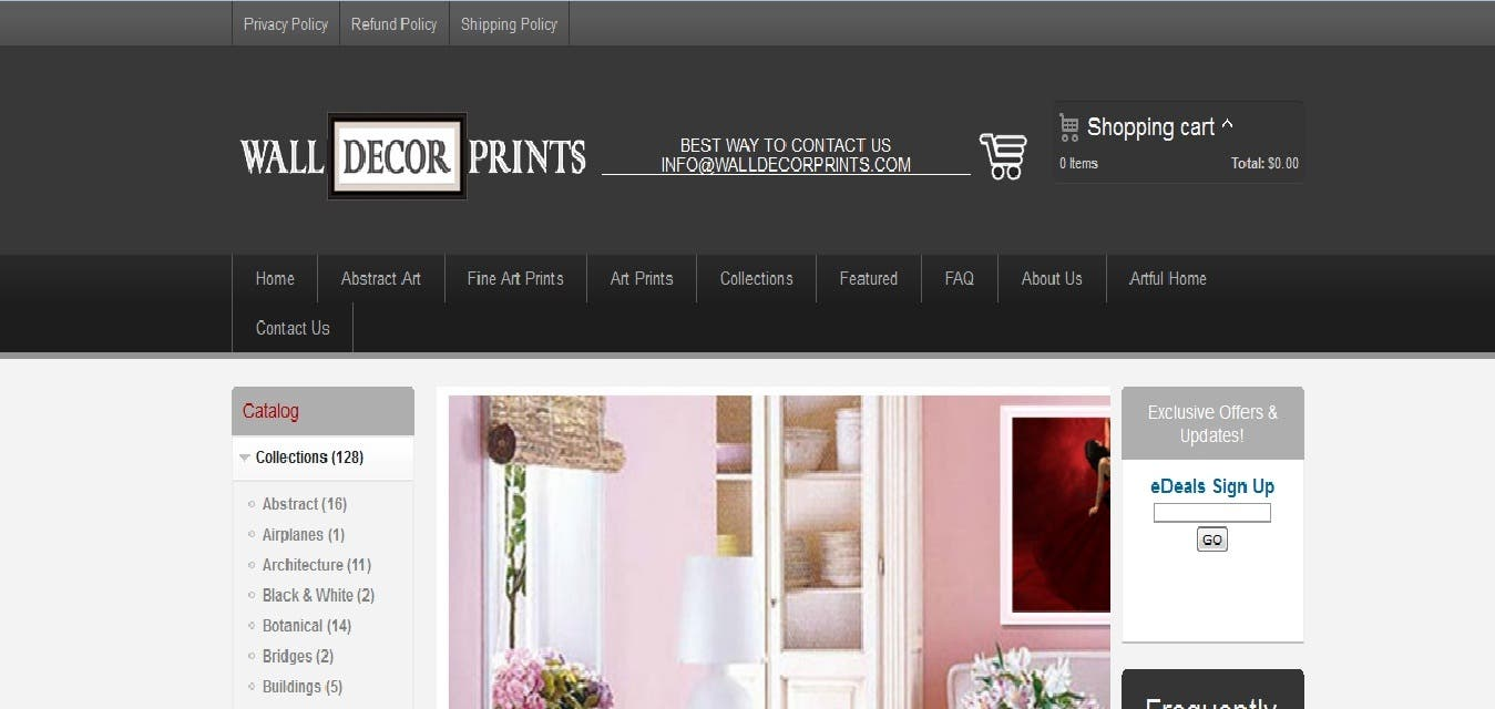 SEO work is onging walldecorprints.com