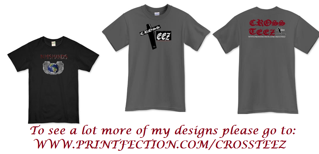My created designs on T shirt template(s)