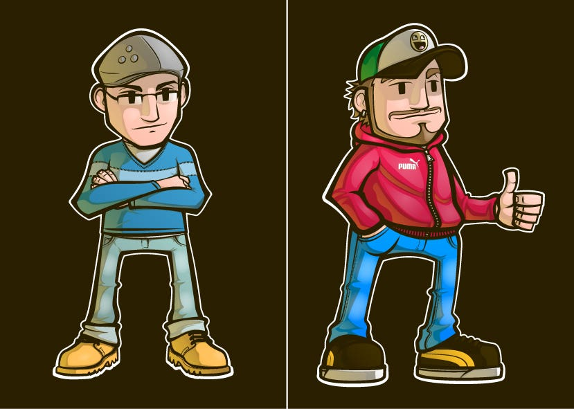 Mascots, characters, avatars...