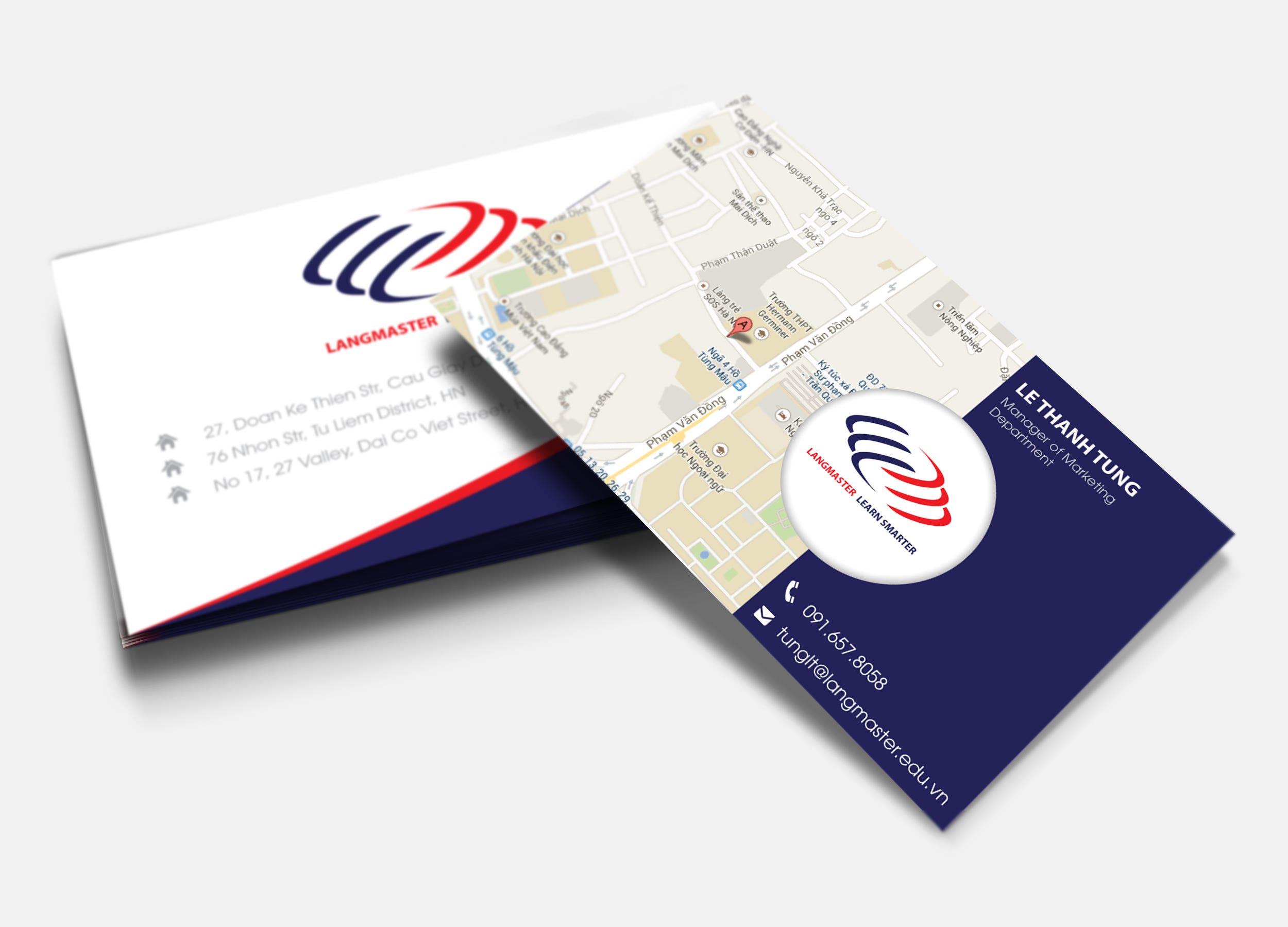 Langmaster company card 2
