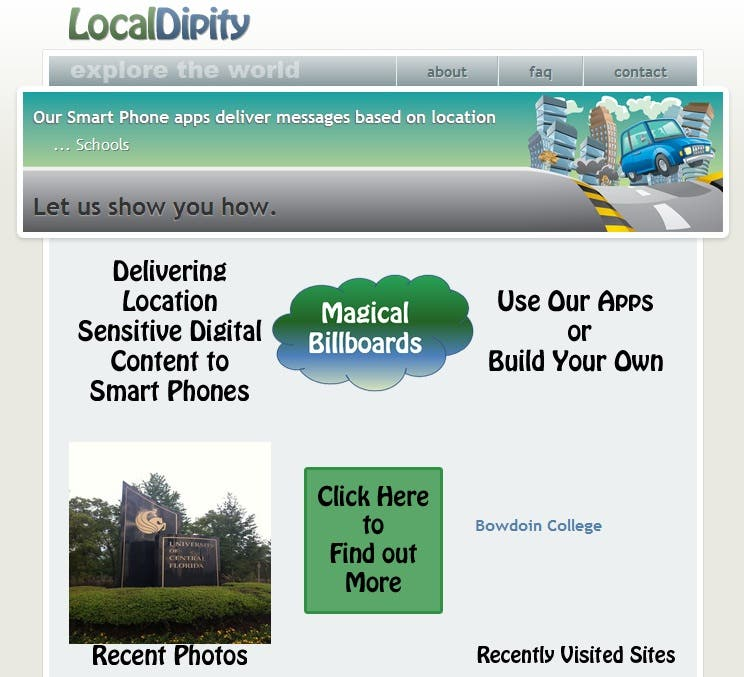LocalDipity Map and Website Implementation.