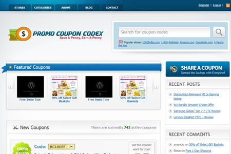 PromoCoupon codes - get discounts via coupons