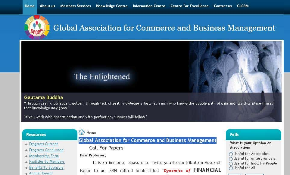 Global Association for Commerce and Business Management