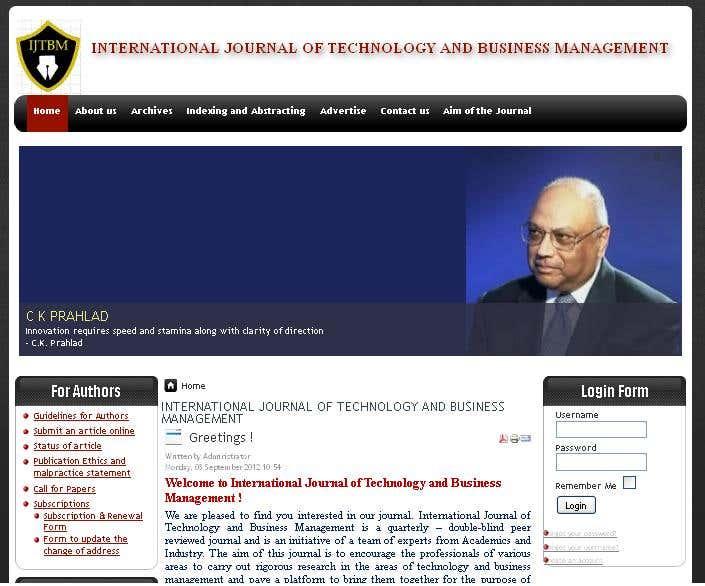 INTERNATIONAL JOURNAL OF TECHNOLOGY AND BUSINESS MANAGEMENT