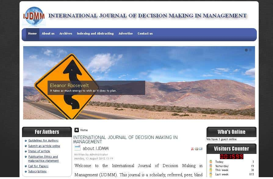 INTERNATIONAL JOURNAL OF DECISION MAKING IN MANAGEMENT
