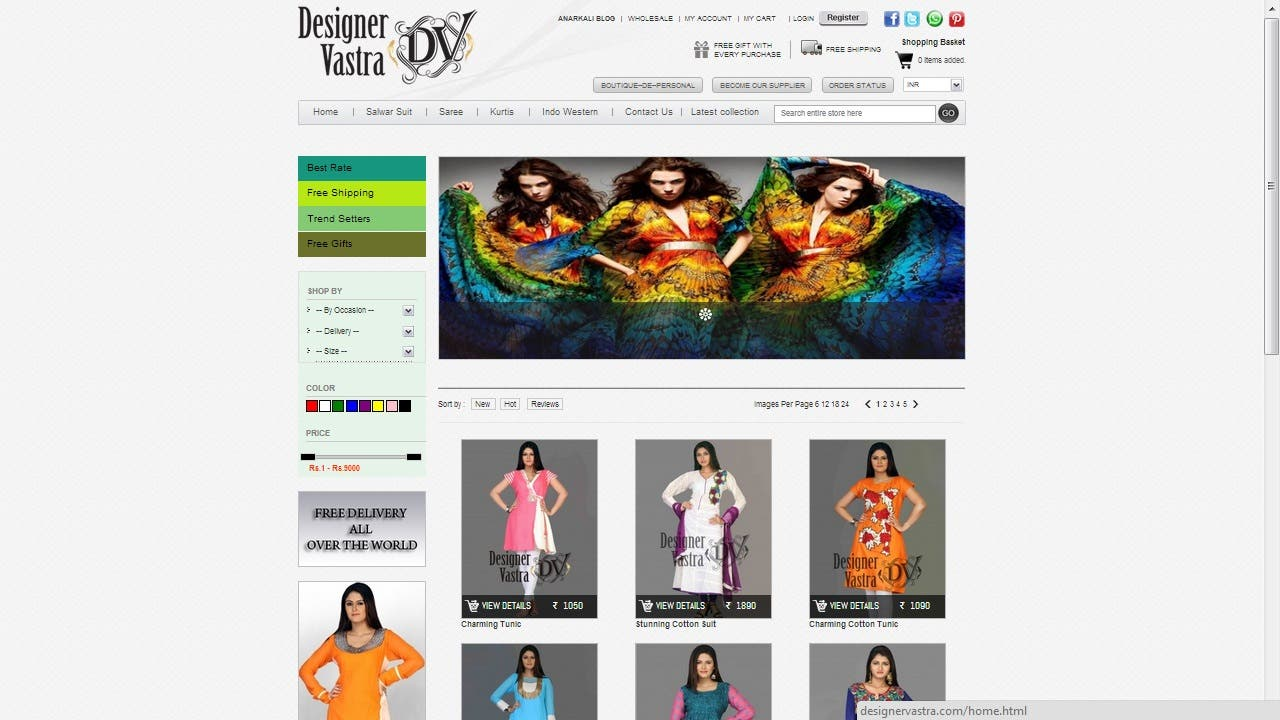 Online Dress Shopping Cart Website developing in Wordpress