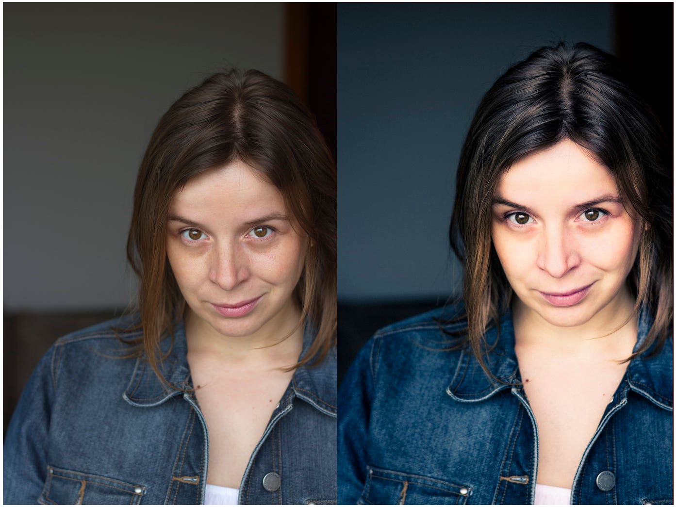 Photography and Image editing - before and after